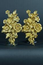 Paire de grands Cache Clous 19E Bronze doré style Louis XVI Cover Nail Rare