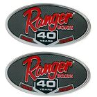 Ranger Boat Decal 7616127   40 Years 4 5/8 x 2 3/8 Inch (Pair)