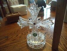 Lenox Fine Crystal Cross with Amethyst's ,Tealight Votive Candleholder Germany