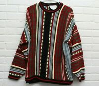 Vintage Precious As Diamonds Mens Size XL 3D Coogi Style Knit Sweater