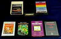Vintage Atari 2600 Game Cartridge Lot Of 7 Kangaroo Air Raiders Grand Prix +