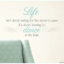 DANCE IN THE RAIN QUOTE WALL DECALS Inspirational Quotes Stickers Home Decor NEW