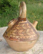 -Afrique du Nord Poterie Kabyle à Anneau Gargoulette Cruche Gourde
