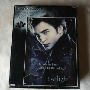 NECA 1000 Pieces Jigsaw Puzzle EDWARD GLASS Twilight Vampires Black Dark Hotty