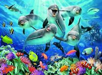 NEW! Ravensburger Dolphins in the Coral Reef 500 piece jigsaw puzzle 14710