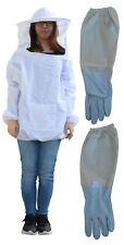 Imkerjacke mit Imker Handschuhe Größe XL Imkerhut mit Schleier Imkerbekleidung