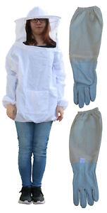Imkerjacke Universalgröße mit Imkerhandschuhe Gr. XXL Imkerhut Imkerbekleidung