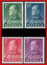 NORWAY 1959 KING OLAV V SC#370-73  MNH CV$80.50++ MILITARY UNIFORM