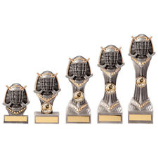 ICE HOCKEY RESIN TROPHIES, 5 SIZES, SILVER/GOLD, FREE ENGRAVING & CENTRES