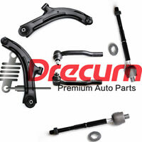 6PC Front Lower Control Arm Inner Outer Tie Rod SET For Nissan Cube Versa
