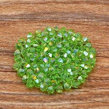Swarovski 5301# 4 mm Bicone Crystal bead B 100 Pcs Applegreen AB