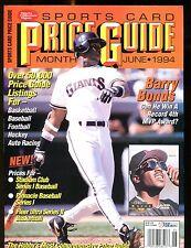 SCD Sports Card Price Guide June 1994 Barry Bonds jhscd