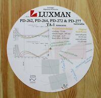Luxman PD-262 / 264 / 272 / 277 & TA-1 Tonearm Cartridge Alignment Protractor