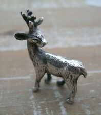 A Sweet Solid Silver 925 Miniature Deer Stag Rudolph