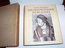 """Antique 1924 """"Die Altdeutsche Malerei"""" by Curt Glaser GERMAN TEXT Church Art"""
