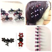 12PCS Cute Crystal Flower Mini Hair Claw Clamp Hair Clip Hair Pin Hair Accessory
