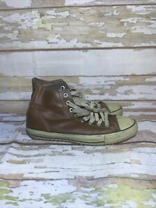 Converse Chuck Taylor All Star Sneakers Hightop Brown Leather Mens 11 (g3)