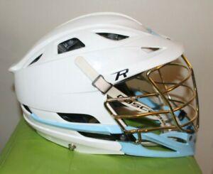 Cascade R  Lacrosse Adjustable Helmet White / Blue w/ SEVEN liner