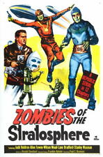 G6380 Zombies Of The Stratosphere Movie Vintage Laminated Poster FR