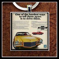 1970 Chevy Camaro Chevrolet Ad Photo KeychaIn Gift Free Shipping Gift 🎁