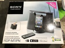 Sony (RDP-M7IPN) iPhone/iPod Lightning Portable Speaker Dock - Black, New in Box