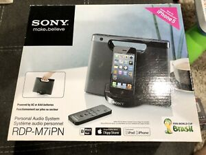 Sony (RDP-M7IPN) iPhone/iPod Lightning Portable Speaker Dock - Black, New in Box