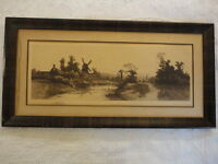 Antique Etching Print Signed by John O. Anderson (James Tyroler New York 1902)