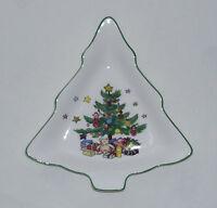 """Nikko """"Happy Holidays"""" Small Tree Candy Dish / Tray - Christmas Tree / Holiday"""