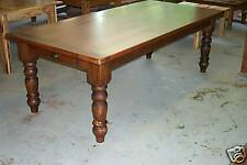 Handcrafted Antique Heart Pine Harvest/Dining Table Farmhouse Reclaimed Salvaged