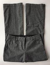 EUC Women's Express Editor Black and Cream Herringbone Wool Blend Pants-Sz 6
