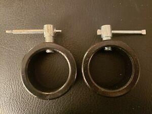 OLYMPIC BARBELL SCREW SPEED COLLARS Pair ez - curl