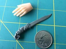 "Fantasy ""Grey Wiz Hunter"" Knife 1:6 Scale Hand Crafted Miniature Steel By Auret"