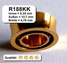 20 Stk. R188K Yoyo-Kugellager vergoldet, mit U-Rille, US-Größe, 8 Ball / Kugeln