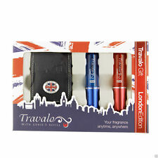 Spray rechargeable - Travalo - London édition - Rouge 5 ml + Bleu 5 ml + étui -