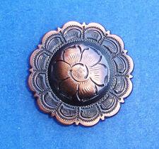"Western Lodge Cabin Kitchen Decor 1 1/2"" Copper Flower Concho Drawer Pulls (6)"