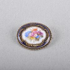 Meissen flowers bouquet cobalt & gold jewellery brooch, 1.choice