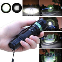 2500-3000LM Zoomable CREE XM-L LED Flashlight Torch Zoom Lamp Super Bright 18650