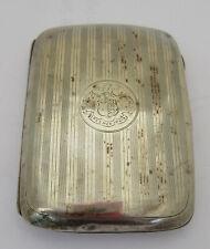 More details for crested 1945 silver cigarette case once property of general akehurst, dsaceur