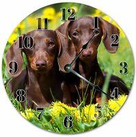"10.5"" DACHSHUNDS WIENER DOG CLOCK - Large 10.5"" Wall Clock Home Decor - 4050"