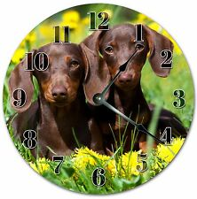 "10.5"" DACHSHUNDS WIENER DOG CLOCK - Large 10.5"" Wall Clock Home Decor - 4050"