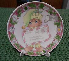 """1998 Precious Moments Decorative """"I'm Sending You A Merry Christmas"""" Plate"""