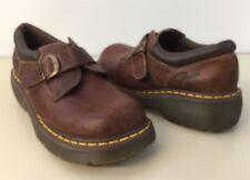 Dr Doc Martens Monk Strap Shoes Men 10 Women 11 US Brown Leather Clean