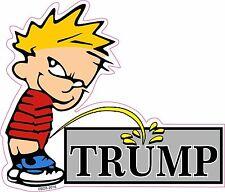 Calvin Pee On Donald Trump President Never Trump Sticker Decal *Free Shipping*
