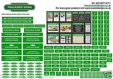 British Railways Southern Region Small Station Signs Pack - OO Gauge 4mm