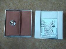 Lovely Tintin Leather Wallet - Tintin and Snowy Design - New