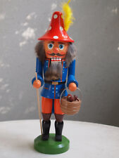 "vintage german nutcracker ""mushroom collector"",28cm, christmas, collectors"