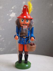 """vintage german nutcracker """"mushroom collector"""",28cm, christmas, collectors"""