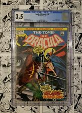 🔥TOMB of DRACULA #10 CGC 3.5 WHITE PAGES 1st APP. of BLADE the VAMPIRE SLAYER🔥