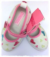 Gymboree Kid Girl Sugar Cookie Heart Pumps Size 5 Toddler NWT