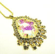 KENDRA SCOTT Daenerys Yellow Gold Plated Dichroic Glass Pendant Long Necklace